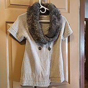 Zara womens cable knit short sleeved sweater S